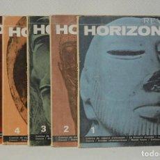 Libros de segunda mano: REVISTA HORIZONTE.LOTE DE CINCO REVISTAS. PLAZA&JANES AÑOS 60. Lote 290021673