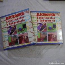 Libros de segunda mano: ELECTRÓNICA. EXPERIMENTOS Y LABORATORIO 2 ARCHIVADORES - F&G EDITORES. Lote 290060513