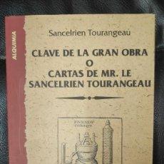 Libros de segunda mano: CLAVE DE LA GRAN OBRA O CARTAS DE MR LE SANCELERIEN TOURANGEAU ( INDIGO 1997 ). Lote 290087168