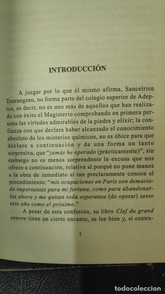Libros de segunda mano: CLAVE DE LA GRAN OBRA O CARTAS DE MR LE SANCELERIEN TOURANGEAU ( INDIGO 1997 ) - Foto 4 - 290087168