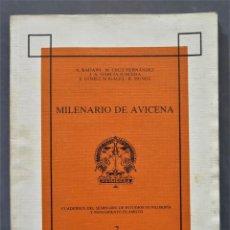Libros de segunda mano: MILENARIO DE AVICENA. Lote 290100373