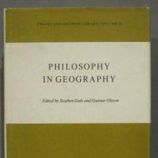 Libros de segunda mano: PHILOSOPHY IN GEOGRAPHY. Lote 290105858
