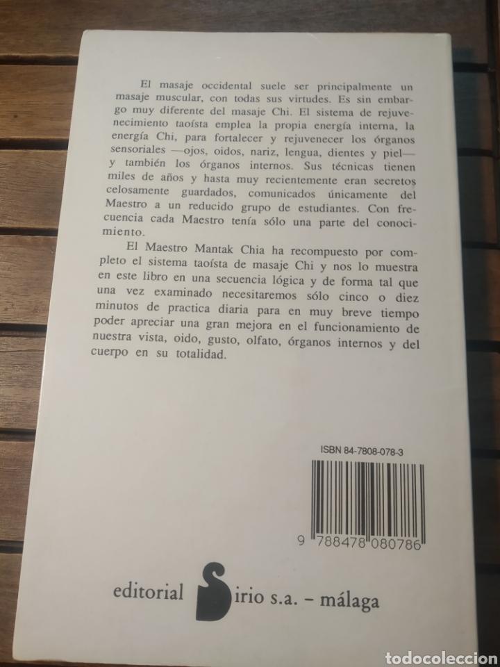 Libros de segunda mano: Mantak chía. Automasaje Chi. Sistema taoísta rejuvenecimiento. Sirio. Primera edición 1990 - Foto 3 - 290114548