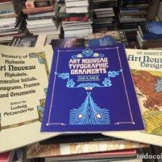 Libros de segunda mano: LOTE DE TIPOGRAFÍA, DISEÑO, ORNAMENTACIÓN , ALFABETO DEL ART NOUVEAU + AMERICAN FOLK ART. Lote 290146018