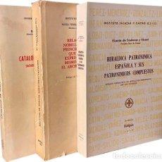 Libros de segunda mano: 3 OBRAS : TITULOS NOBILIARIOS, HERÁLDICA PATRONÍMICA, ETC. (HIDALGUÍA. GENEALOGÍA. CADENAS Y. Lote 292177473