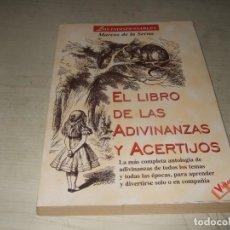 Libros de segunda mano: EL LIBRO DE LAS ADIVINANZAS Y ACERTIJOS - VICTOR. Lote 293980833
