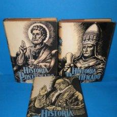 Libros de segunda mano: HISTORIA DEL PONTIFICADO.- MANUEL ARAGONES VIRGILI (3 TOMOS OBRA COMPLETA). Lote 294052678