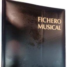 Libros de segunda mano: FICHERO MUSICAL. UNA BIBLIOTECA MUSICAL EN FICHAS 6 FICHEROS SA6008. Lote 294144848