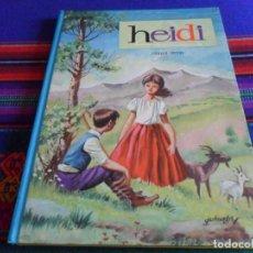Libros de segunda mano: COLECCIÓN AMABLE Nº 9 HEIDI. EVA EDITORIAL VASCO AMERICANA 1962. TAPAS DURAS. BUEN ESTADO.. Lote 294378733