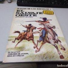 Libros de segunda mano: EL SALVAJE OESTE - JUEGOS DE LAS BATALLAS 1 - ANDREW MCNEILL - PLAZA & JANES. Lote 294440978