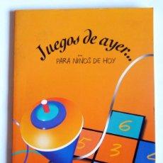 Libros de segunda mano: JUEGOS DE AYER PARA NIÑOS DE HOY - GRUPO CORVERA DE ASTURIAS. 1997. Lote 294957778