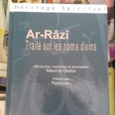 Libros de segunda mano: FAKHR AD-DIN AR-RAZI TRAITE SUR LES NOMS DIVINS. Lote 295480213
