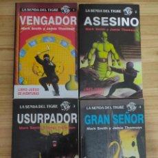 Libros de segunda mano: COLECCIÓN LA SENDA DEL TIGRE COMPLETA (4 LIBRO JUEGOS) 1988. Lote 295551918
