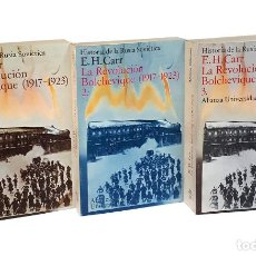 Libros de segunda mano: CARR (E. H.).- HISTORIA DE LA RUSIA SOVIÉTICA: LA REVOLUCIÓN BOLCHEVIQUE, 1917-1923. [EN 3 TOMOS]. Lote 295632093