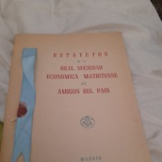 Libros de segunda mano: ESTATUTOS DE LA REAL SOCIEDAD ECONÓMICA MATRITENSE AMUGOS DEL PAIS. Lote 295818643