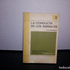 Libros de segunda mano: 50- LA CONDUCTA DE LOS ANIMALES - J. D. CARTHY. Lote 296062753