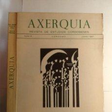 Libros de segunda mano: AXERQUÍA 2 REVISTA DE ESTUDIOS CORDOBESES JUNIO 1981 VARIOS DIPUTACIÓN PROVINCIAL DE CÓRDOBA. Lote 296594113