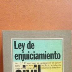 Libros de segunda mano: LEY DE ENJUICIAMIENTO CIVIL. VICTOR MORENO CATENA. EDITORIAL TECNOS. Lote 296622108