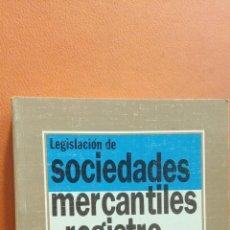 Libros de segunda mano: LEGISLACIÓN DE SOCIEDADES MERCANTILES Y REGISTRO. IGNACIO ARROYO MARTÍNEZ. EDITORIAL TECNOS. Lote 296622233