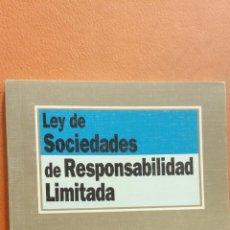 Libros de segunda mano: LEY DE SOCIEDADES DE RESPONSABILIDAD LIMITADA. IGNACIO ARROYO. EDITORIAL TECNOS. Lote 296622598