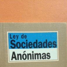 Libros de segunda mano: LEY DE SOCIEDADES ANÓNIMAS. IGNACIO ARROYO. EDITORIAL TECNOS. Lote 296622668