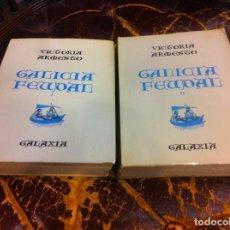 Libros de segunda mano: VICTORIA ARMESTO. GALICIA FEUDAL (2 TOMOS) ED. GALAXIA, 1969. Lote 296847993