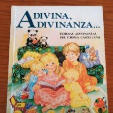 Libros de segunda mano: ADIVINA, ADIVINANZA JUAN LÓPEZ RAMÓN. Lote 297275638