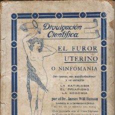 Libros: EL FUROR UTERINO. Lote 87039408