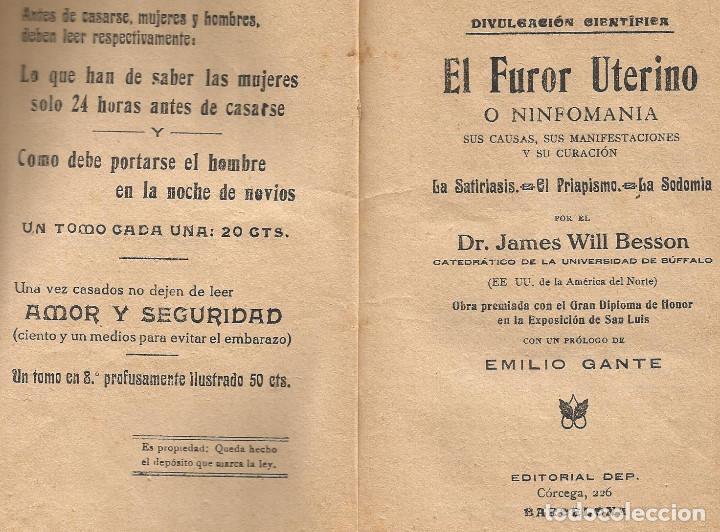 Libros: el furor uterino - Foto 2 - 87039408