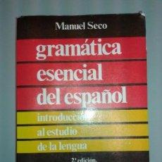 Libros: GRAMATICA DEL ESPAÑOL DE MANUEL SECO. Lote 101443315