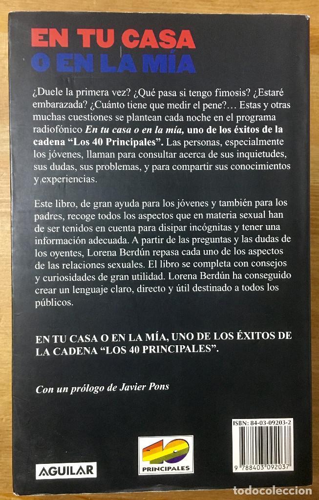 Libros: EN TU CASA O EN LA MIA - LORENA BERDÚN - AGUILAR - Foto 2 - 166847194