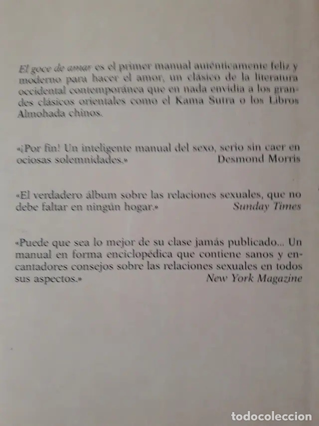 Libros: Literatura erótica. THE JOY OF SEX. GUIA ILUSTRADA DEL AMOR. por Alex Comfort - Foto 2 - 178997843