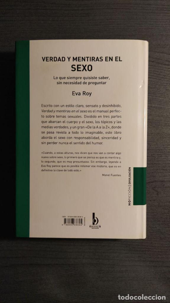 Libros: VERDAD Y MENTIRAS EN EL SEXO. EVA ROY EDICIONES B - Foto 11 - 189426968