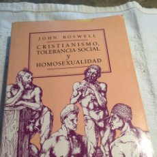 Libros: CRISTIANISMO TOLERANCIA SOCIAL Y HOMOSEXUALIDAD. Lote 201993662