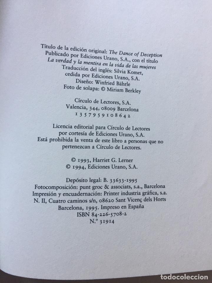 Libros: ¿Porqué fingimos las mujeres? Harriet G. Lerner Verdad y mentira en la vida de las mujeres 1995 - Foto 3 - 202827483