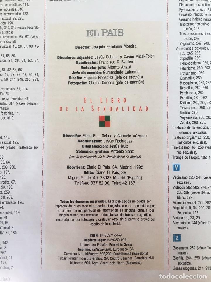 Libros: EL LIBRO DE LA SEXUALIDAD - ENCUADERNADO - 1ª EDICION - EL PAIS - 1991 - ¡MUY BUEN ESTADO! - Foto 3 - 248162520
