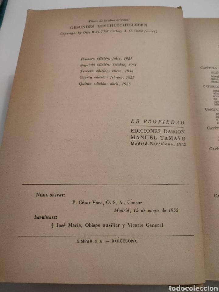 Libros: Tu vida conyugal. Hornstein - Faller - Streng. Quinta edición 1955. - Foto 6 - 261992700