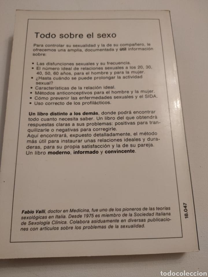 Libros: Todo sobre el sexo. Dr Fabio Valli. 1988. - Foto 2 - 261993240
