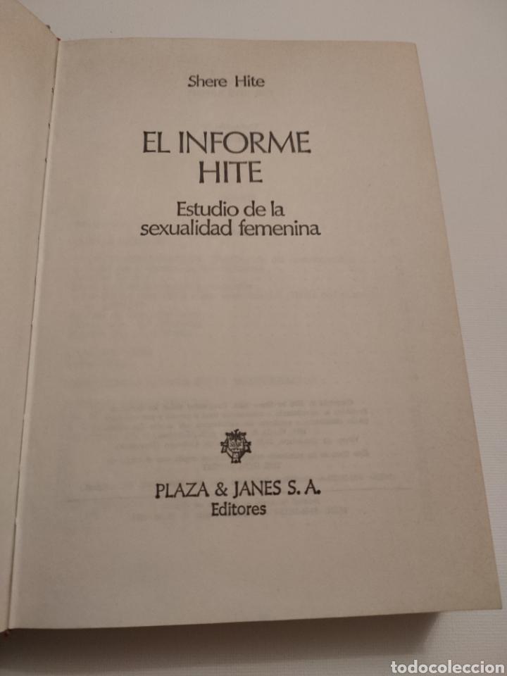 Libros: El informe Hite. Shere Hite. Primera edición 1977. - Foto 4 - 261993810