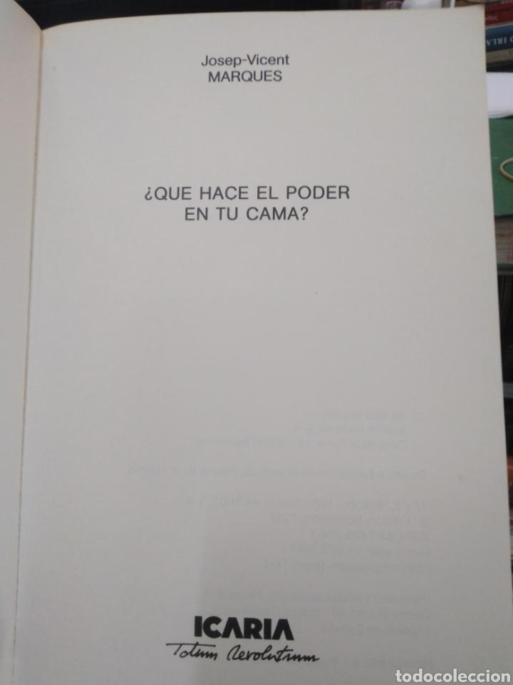 Libros: ¿QUE HACE EL PODER EN TU CAMA?JOSEP VICENT MARQUES-EDITA ICARIA 1987 - Foto 3 - 262906440