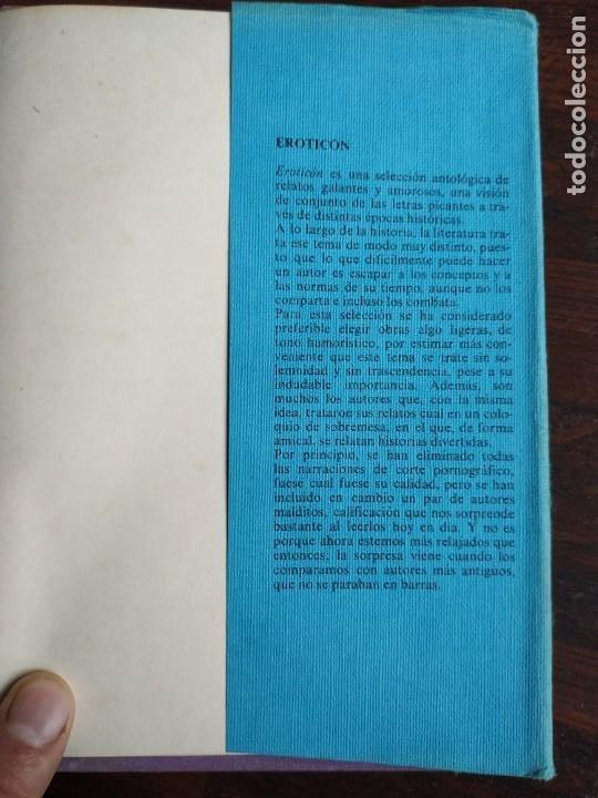 Libros: EROTICÓN. Antología de relatos galantes y amorosos 12 capitulos que desvelan misterios de la erotica - Foto 9 - 288973253