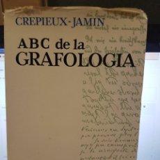 Libros: ABC DE LA GRAFOLOGÍA. CRPIEUX-JAMIN. Lote 78915013