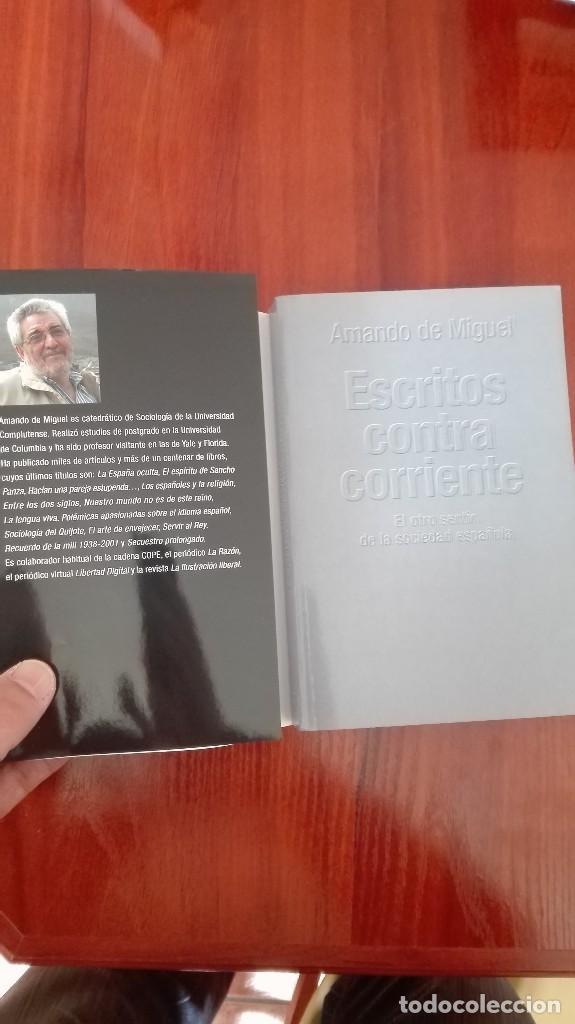 Libros: Escritos contra corriente Amando de Miguel - Foto 2 - 86101344