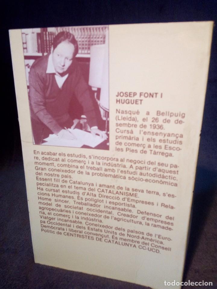 Libros: JOSEP FONT HUGUET, SENTIMENT CATALA,LIBRO FIRMADO POR EL AUTOR - Foto 2 - 98596163