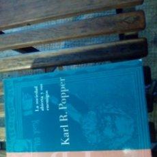 Libros: LA SOCIEDAD ABIERTA Y SUS ENEMIGOS. Lote 135354246