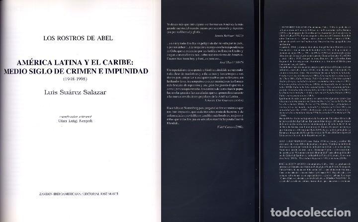 Libros: SUÁREZ. Los Rostros de Abel. América Latina y el Caribe. Medio siglo de Crimen e Impunidad... 2001. - Foto 3 - 136003782