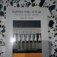 Libros: LIBRO RAZONES PARA ACTUAR. Lote 142219028