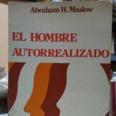 Libros: ABRAHAM H. MASLOW. EL HOMBRE AUTORREALIZADO. PORTADA NÚRIA POMPEIA, TRAD. RAMON RIBÉ. BARCELONA 1976. Lote 155187966