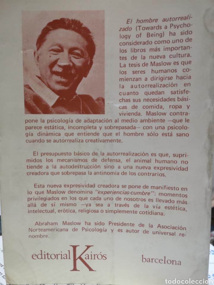 Libros: Abraham H. Maslow. El hombre autorrealizado. Portada Núria Pompeia, Trad. Ramon Ribé. Barcelona 1976 - Foto 2 - 155187966