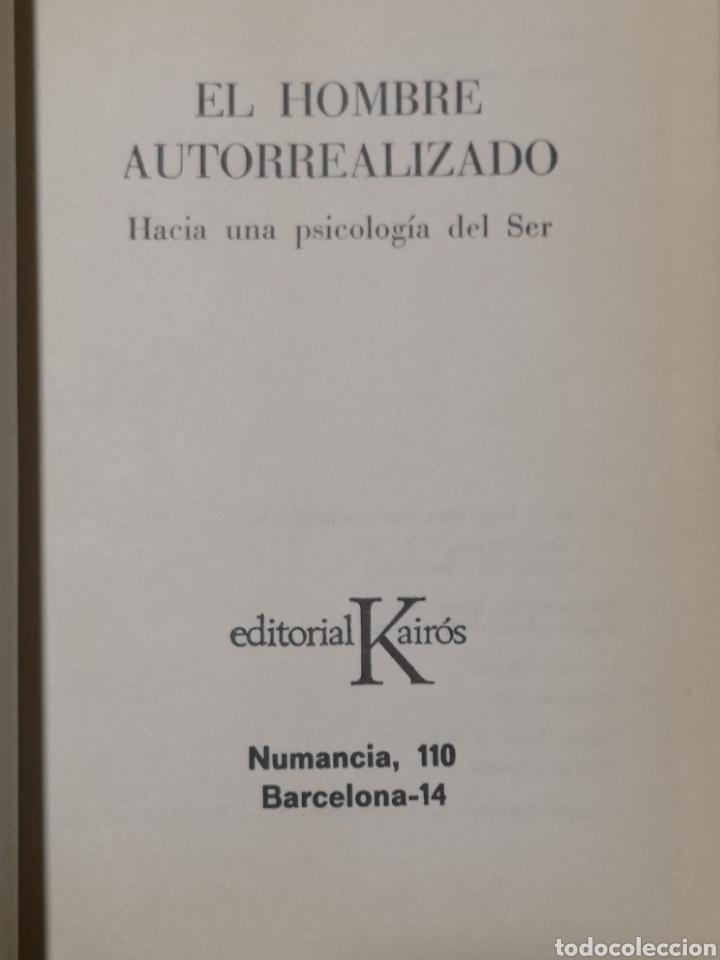 Libros: Abraham H. Maslow. El hombre autorrealizado. Portada Núria Pompeia, Trad. Ramon Ribé. Barcelona 1976 - Foto 4 - 155187966
